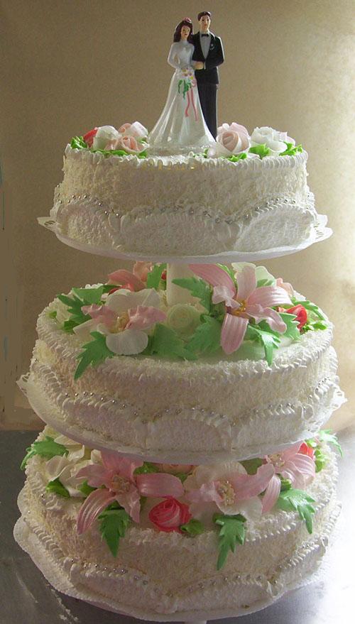Свадебные торты из масляного крема фото